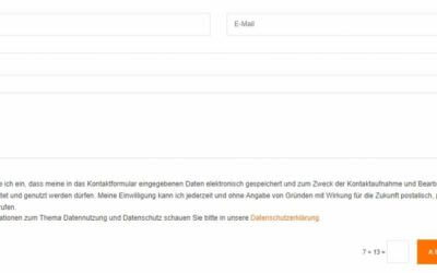 DSGVO-konformes Kontaktformular