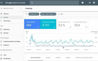 Google Search Console – Nachfolger der Webmastertools