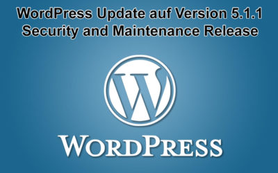 WordPress Update auf Version 5.1.1 erschienen