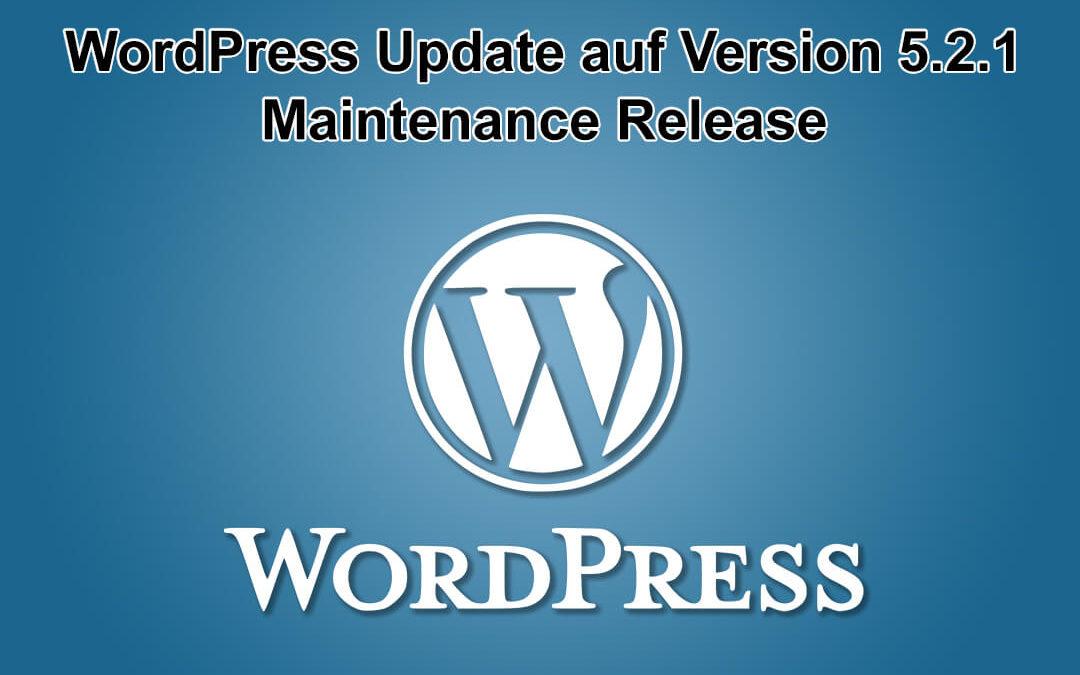 WordPress Update auf Version 5.2.1