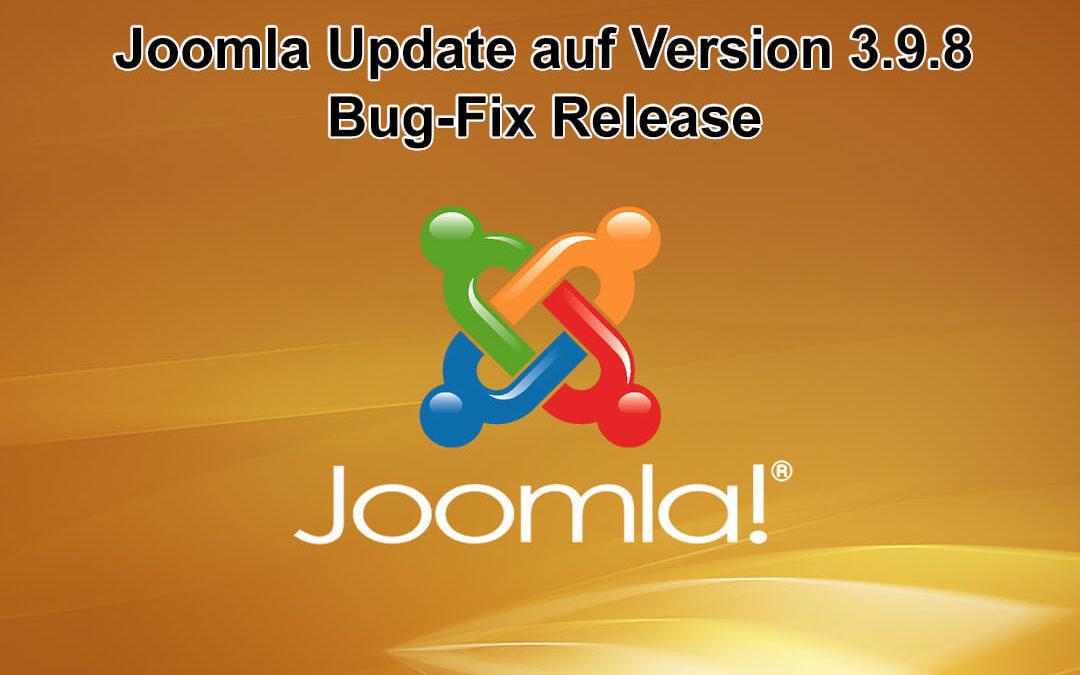 Joomla Update auf Version 3.9.8