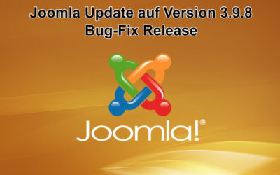 Joomla Update auf Version 3.9.8 erschienen