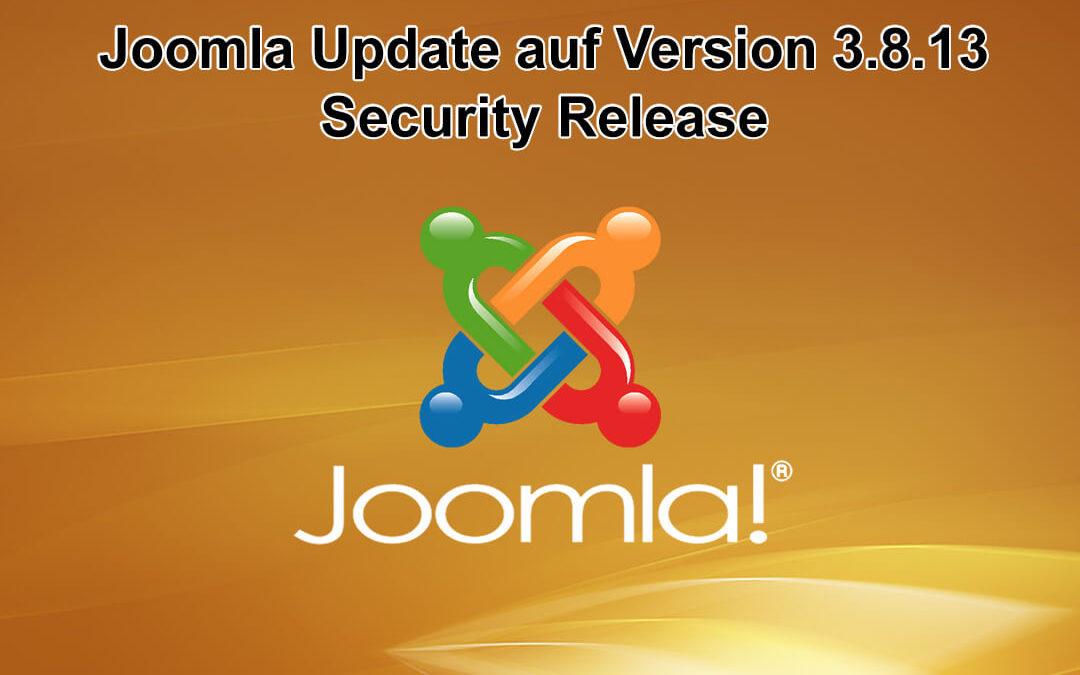 Joomla Update auf Version 3.8.13 erschienen