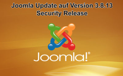 Joomla Update auf Version 3.8.13 erschienen