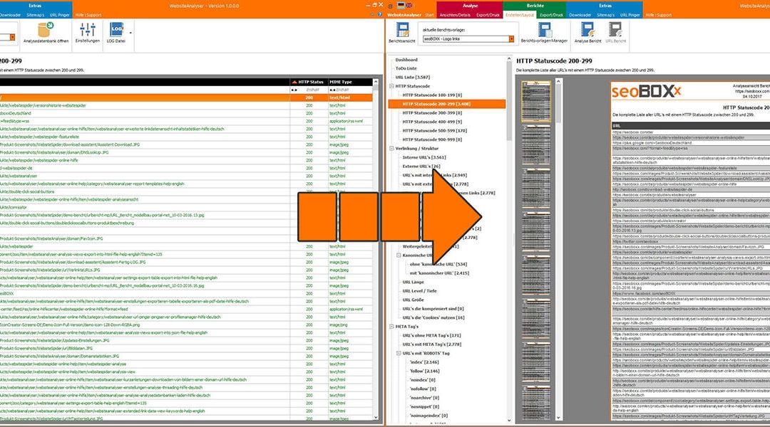 Einen Analysebericht mit dem seoBOXX WebsiteAnalyser erzeugen