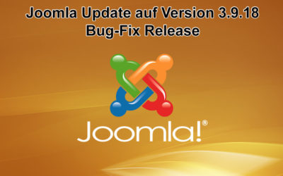 Joomla Update auf Version 3.9.18 erschienen