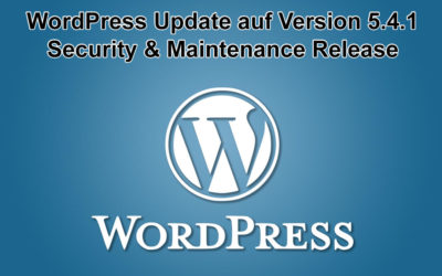 WordPress Update auf Version 5.4.1 erschienen