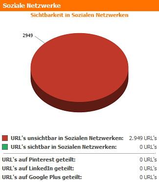Soziale Netzwerke Zusammenfassung des WebsiteAnalyser Dashboards