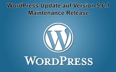 WordPress Update auf Version 5.6.1 erschienen