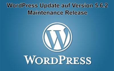WordPress Update auf Version 5.6.2 erschienen