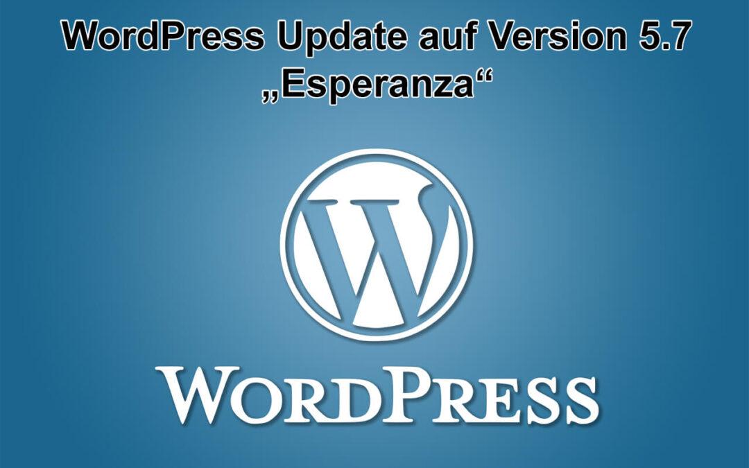 WordPress-Update auf Version 5.7 - Esperanza - am 09.03.2021 erschienen