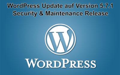 WordPress Update auf Version 5.7.1 erschienen