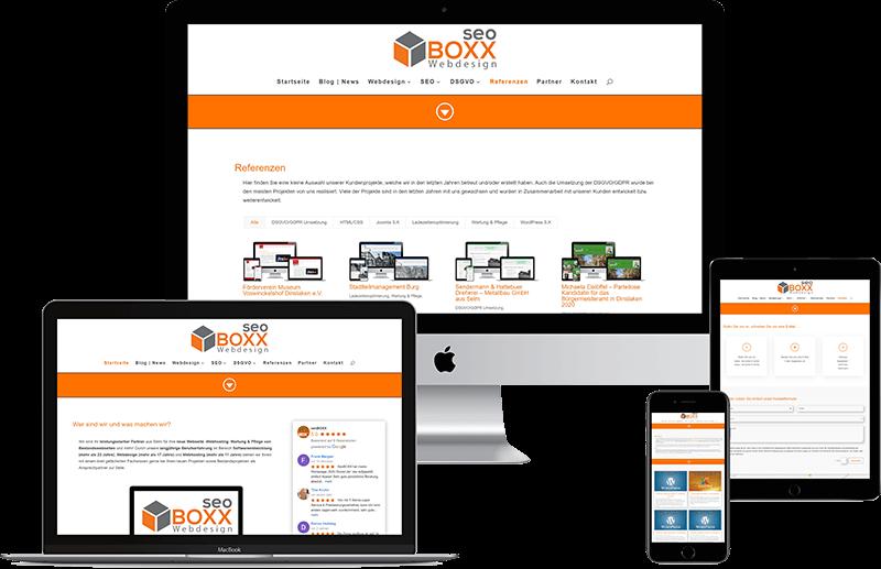 seoBOXX Webdesign Website MockUp 2021