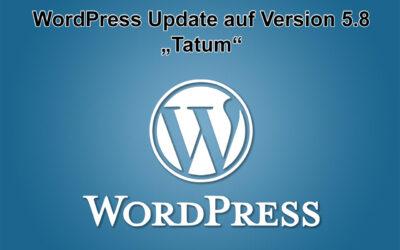 """WordPress Update auf Version 5.8 """"Tatum"""" erschienen"""