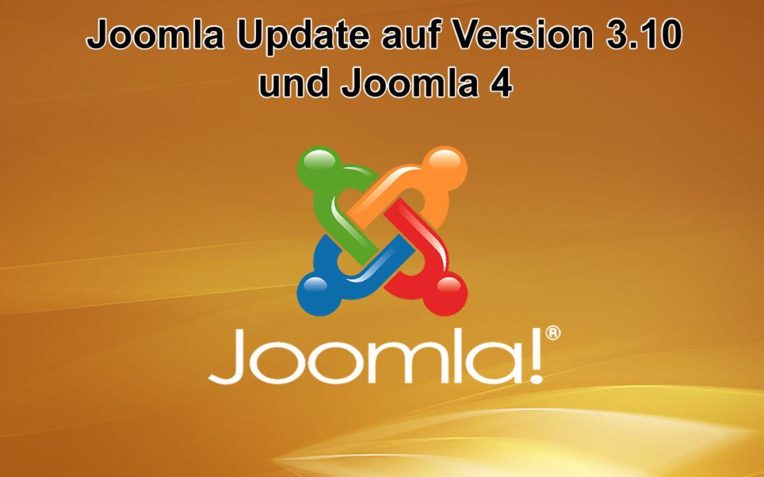 Joomla Update auf Version 3.10 und auf Version 4 erschienen