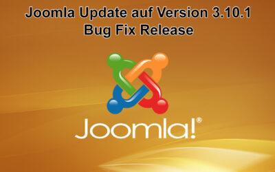Joomla Update auf Version 3.10.1 erschienen