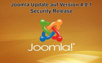 Joomla Update auf Version 4.0.1 erschienen