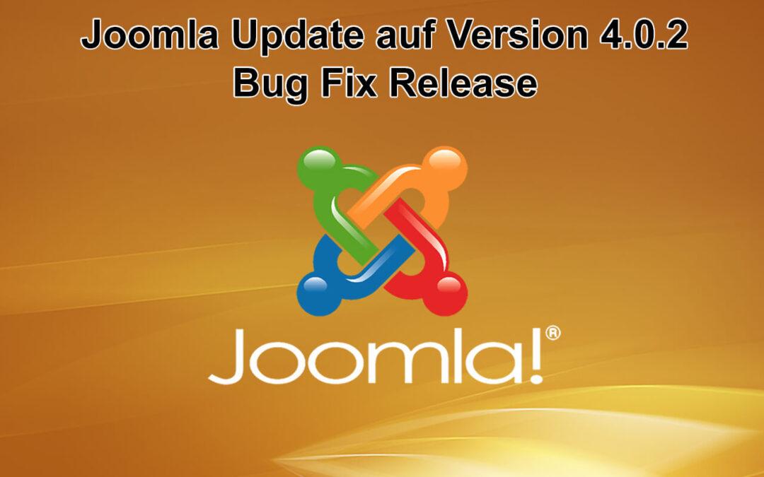 Joomla Update auf Version 4.0.2 erschienen - Bug Fix Release