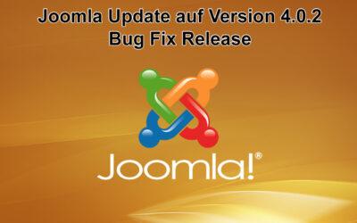 Joomla Update auf Version 4.0.2 erschienen