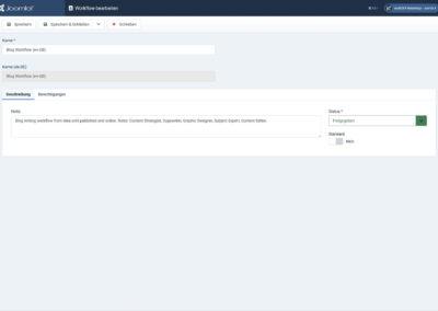 Joomla4 - Ansicht - Workflows
