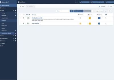 Joomla4 - Ansicht - Workflows Übersicht
